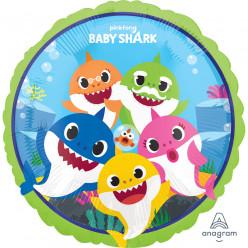 Balão Foil Redondo Baby Shark 43cm
