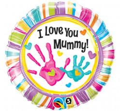 Balão Foil Redondo I Love You Mummy 46cm