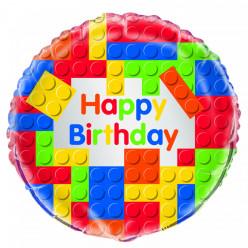 Balão Foil Redondo Lego Happy Birthday 46cm