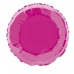 Balão Foil Redondo Rosa Fúscia 46cm