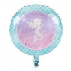 """Balão Foil Redondo Sereia 18"""" - 45cm"""