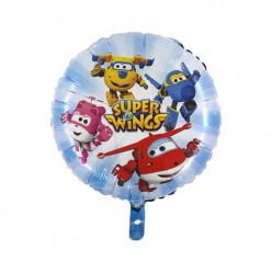 Balão Foil Redondo Super Wings 45cm