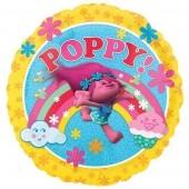 Balão Foil redondo Trolls Poppy 43cm