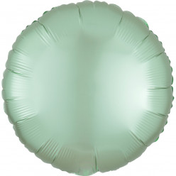 Balão Foil Redondo Verde Menta Pastel Acetinado 43cm