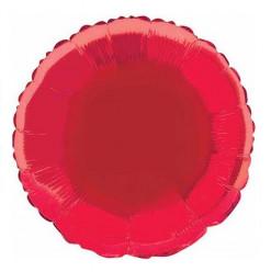 Balão Foil Redondo Vermelho 46cm