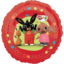 Balão Foil Redondo Vermelho Coelhinho Bing 43cm
