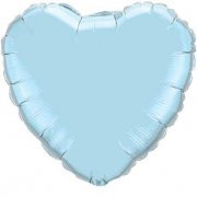 Balão Foil Super Shape Coração Azul