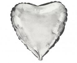 Balão Foil Super Shape Coração Prateado