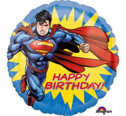 Balão Foil Superman Happy Birthday