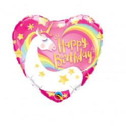 Balão Foil Unicórnio Happy Birthday