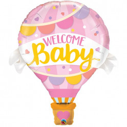 Balão Foil Welcome Baby Girl