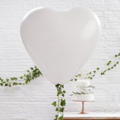 Balão Gigante  Coração Branco 3unid