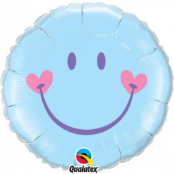 Balão globo Azul 18 polegadas Smile
