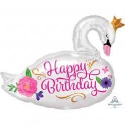 Balão Happy Birthday Cisne