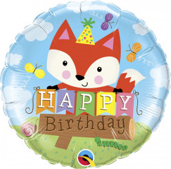 Balão Happy Birthday Fox