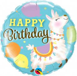 Balão Lama Happy Birthday