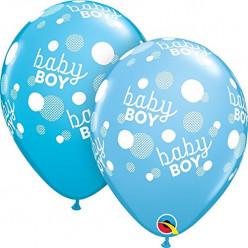 "Balão Latex Baby Shower Baby Boy 11"" Sortido"