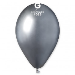 """Balão  Latex Prateado Metalizado 13"""" (33cm)"""