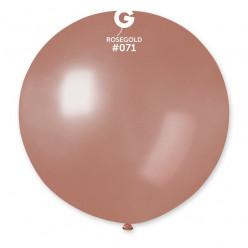 Balão Látex Rosa Dourado 80cm
