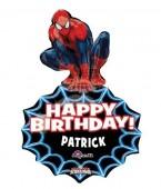 Balão Metálico Spiderman Personalizado Super Shape  - 83cm