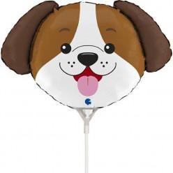 """Balão Mini Cabeça Cão 14"""""""