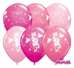 """Balão Minnie Bebé Rosa Sortido 11"""""""