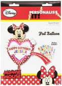 Balão Minnie Super Shape Foil 83cm Personalisável