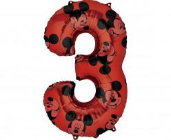 Balão Número 3 Mickey Disney