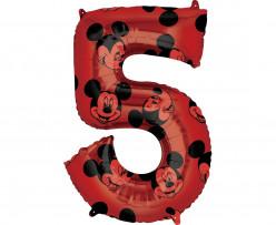 Balão Número 5 Mickey Disney