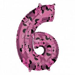 Balão Número 6 Minnie Disney