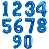 Balão Número Azul 86cm