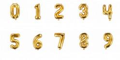 Balão Número Dourado 35cm