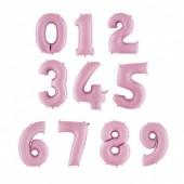Balão Número Rosa Bebé 86cm