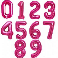 Balão Número Rosa Fúcsia 86cm