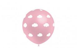 """Balão Nuvens Rosa 13"""""""