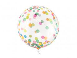 Balão Orbz Confettis Coloridos 40cm