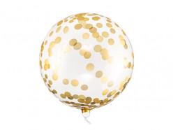 Balão Orbz Confettis Dourados 40cm