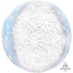 Balão Orbz Flocos de Neve 38cm