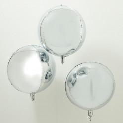 Balão Orbz Prateado 3 uni