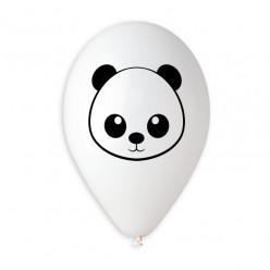 "Balão Panda Branco 13"""