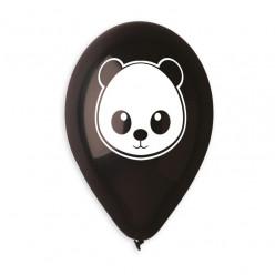 """Balão Panda Preto 13"""""""