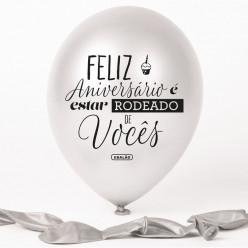 Balão Pérola Feliz Aniversário