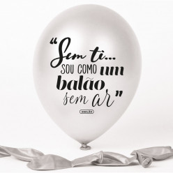 Balão Pérola Sem Ti... Sou Como Um Balão Sem Ar