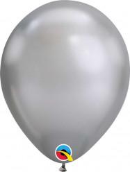 Balão Prateado Chrome 11''