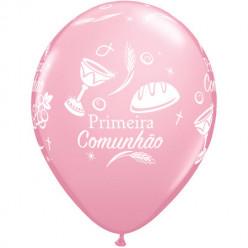 """Balão Primeira Comunhão Rosa 11"""""""