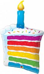 Balão Rainbow Cake & Candle