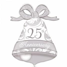 Balão Shape Sino 25 Anos de Aniversario