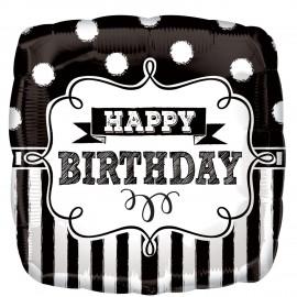 Balão Standard Quadro Negro Happy Birthday