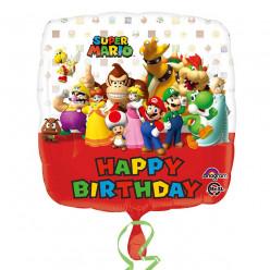 Balão Super Mário Happy Birthday