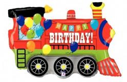 Balão SuperShape Comboio Happy Birthday 94cm